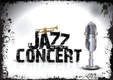 Cartel del concierto del jazz Foto de archivo libre de regalías