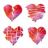 Cartel del corazón Imagen de archivo libre de regalías