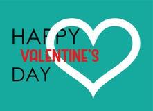 Cartel del corazón del día de la tarjeta del día de San Valentín s Diseño del vector de la tipografía Fotografía de archivo libre de regalías