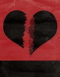 Cartel del corazón quebrado Imagen de archivo