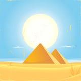 Cartel del cuadrado de la pirámide de Giza Fotografía de archivo