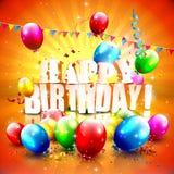 Cartel del cumpleaños Imágenes de archivo libres de regalías