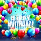 Cartel del cumpleaños Fotografía de archivo libre de regalías