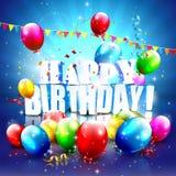 Cartel del cumpleaños Foto de archivo