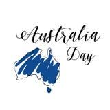 Cartel del día de Australia Fotos de archivo libres de regalías