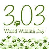 Cartel del día de la fauna del mundo Fotografía de archivo