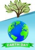 Cartel del Día de la Tierra ilustración del vector