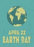 Cartel del Día de la Tierra Imagen de archivo libre de regalías