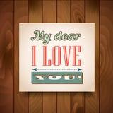 Cartel del día de tarjeta del día de San Valentín Fotos de archivo libres de regalías