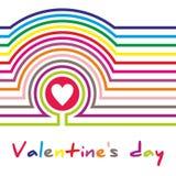 Cartel del día de tarjeta del día de San Valentín tipografía Vector Foto de archivo libre de regalías