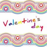 Cartel del día de tarjeta del día de San Valentín tipografía Vector Fotos de archivo libres de regalías