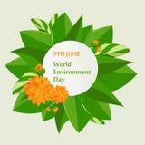 Cartel del día del ambiente mundial Foto de archivo