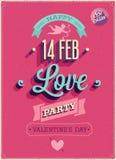 Cartel del día del ` s de la tarjeta del día de San Valentín. ilustración del vector