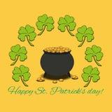 Cartel del día del St Patrick Fotos de archivo libres de regalías
