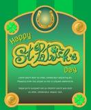 Cartel del día del ` s de St Patrick Imagenes de archivo