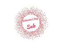 Cartel del día del ` s de la tarjeta del día de San Valentín Fotografía de archivo