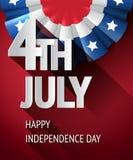 Cartel del 4 de julio Imagen de archivo libre de regalías