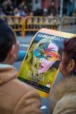 Cartel del desfile de Rusafa foto de archivo