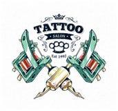 Cartel del estudio del tatuaje Fotografía de archivo