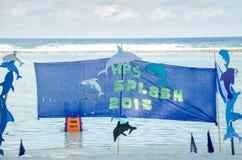 Cartel del evento 2015 del chapoteo Foto de archivo