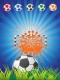 Cartel del fútbol Ilustración del Vector