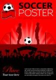 Cartel del fútbol Fotografía de archivo libre de regalías