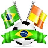 Cartel del fútbol Fotos de archivo