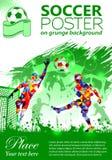 Cartel del fútbol Foto de archivo