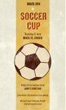 Cartel del fútbol de la barra de deportes Foto de archivo