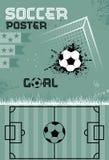 Cartel del fútbol de la plantilla, vector Imagen de archivo