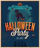 Cartel del feliz Halloween. Imágenes de archivo libres de regalías
