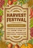 Cartel del festival de la cosecha del vintage stock de ilustración