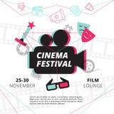 Cartel del festival del cine Imagen de archivo