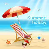 Cartel del fondo de las vacaciones de verano libre illustration