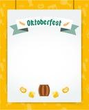 Cartel del fondo del vector de la celebración de Oktoberfest Fotografía de archivo libre de regalías