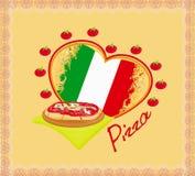 Cartel del grunge de la pizza Imagen de archivo libre de regalías
