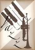 Cartel del jazz  Foto de archivo