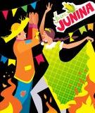 Cartel del junina de Festa Fotografía de archivo