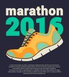 Cartel 2016 del maratón Fotografía de archivo