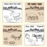 Cartel del mercado de los granjeros Imagenes de archivo