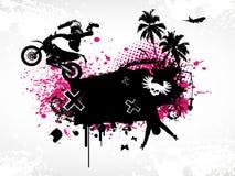 Cartel del motocrós Imagenes de archivo