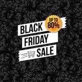 Cartel del negocio de la venta de Black Friday Imagen de archivo libre de regalías