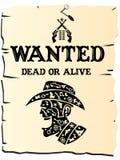Cartel del oeste salvaje Fotografía de archivo libre de regalías