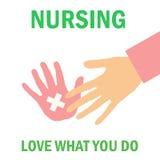 Cartel del oficio de enfermera Foto de archivo libre de regalías