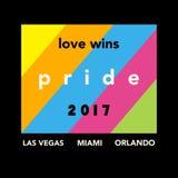 Cartel 2017 del orgullo gay ilustración del vector
