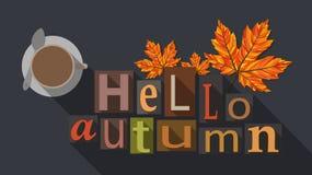 Cartel del otoño, ejemplo plano Foto de archivo libre de regalías