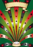 Cartel del póker Imagen de archivo