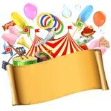 Cartel del papel del circo del vector libre illustration