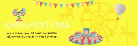 Cartel del parque de atracciones ilustración del vector