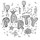 Cartel del partido Foto de archivo